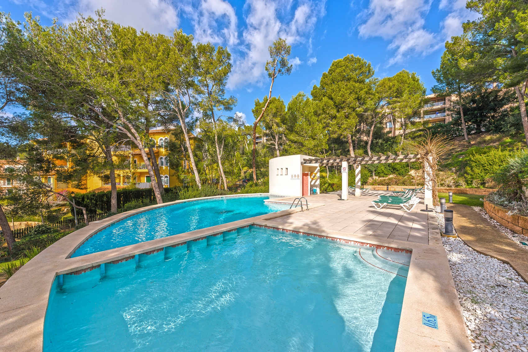 Cala Fornells apartment with pool gardens and close to the beach