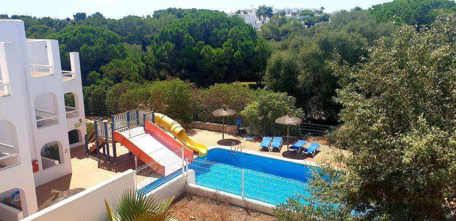 Spacious first floor apartment in a popular complex with pool for sale in Cala D'or